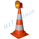 Photo: Traffic cone with halogen lamp DKH-75
