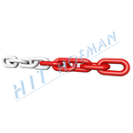 Photo: Link chain red-white 6mm