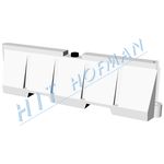 Photo: Plastic crash barrier PS white