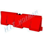 Photo: Plastic crash barrier PS red