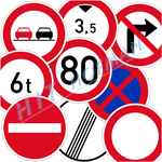 Photo: Traffic signs indicating restrictions