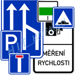 Photo: Traffic information signs - signs relating to traffic-flow