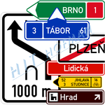 Photo: Traffic information signs - signs giving directions