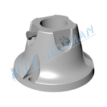 Photo: Circural aluminium socket HPK 60 (cast)