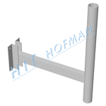 Photo: Wall-mounting bracket for ø60/570mm